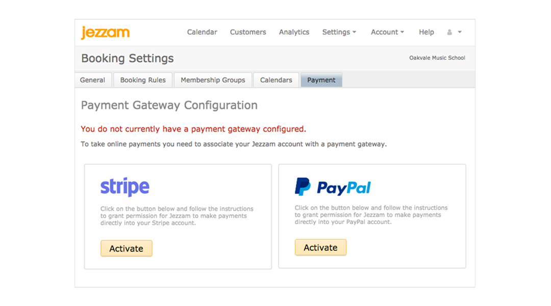 Jezzam - Stripe Payment Gateway integration